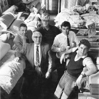 Photo of Glant Family in Fabrics Warehouse in early 1900s